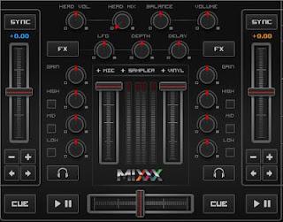 Sekcja Mixer Mixxx