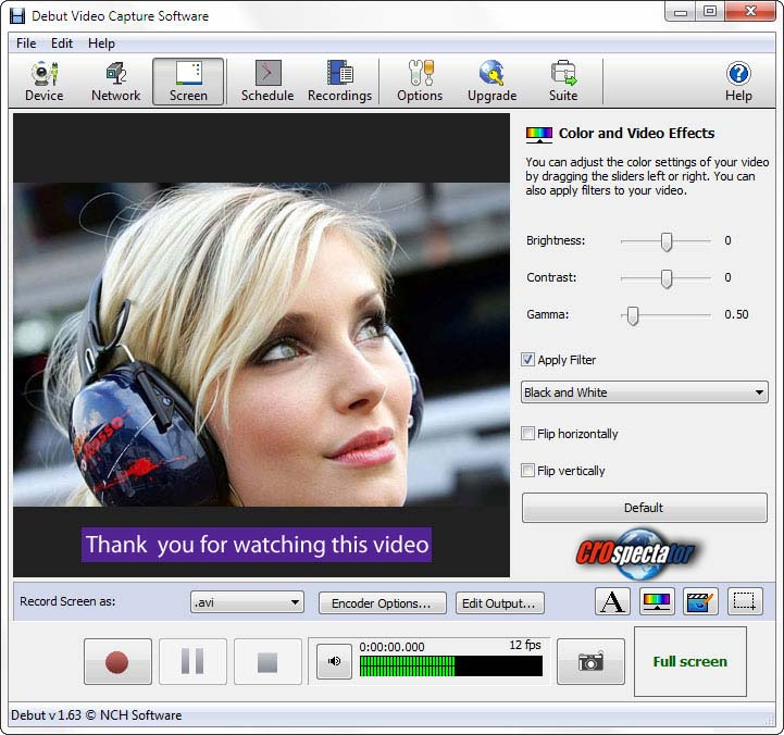 Debut Video Capture and Screen Recorder Software