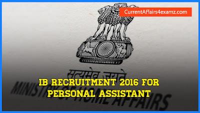IB Recruitment 2016