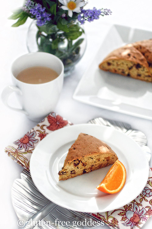 Gluten free orange scented soda bread