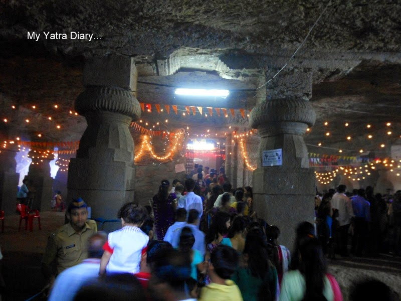 Inside the Jogeshwari caves during Shravan, Mumbai