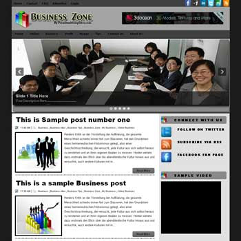 Business Zone blog template. download blogger template business background