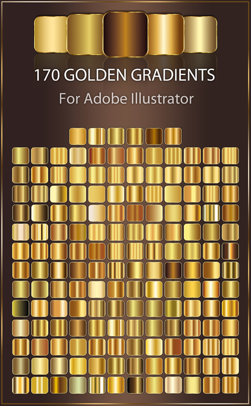 170 Golden Gradients For Adobe