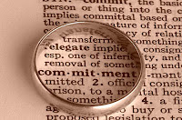 wedding band around word commitment in dictionary