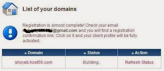 click Refresh Status.