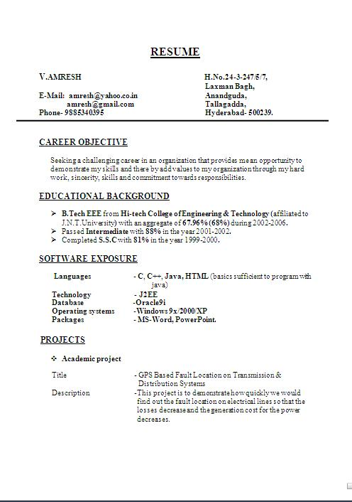 simple biodata format doc