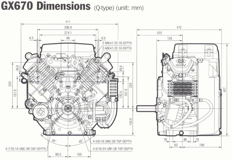 gx340 manual honda service