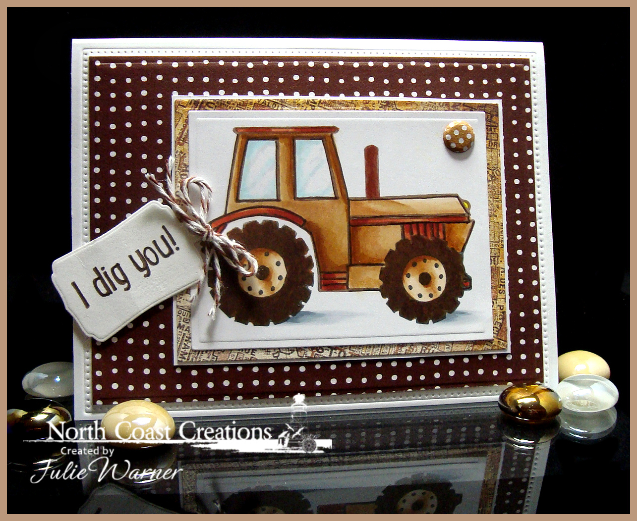 Stamps - North Coast Creations I Dig You, Our Daily Bread Designs Custom Mini Tag Dies, ODBD Custom Flourished Star Pattern Die