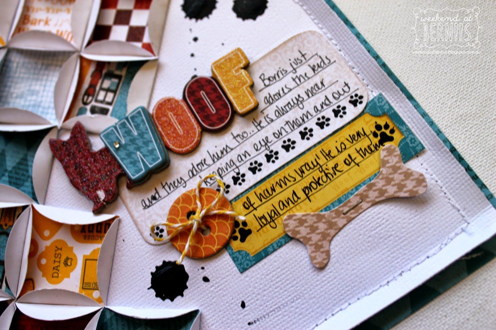 Woof layout by Bernii Miller using BoBunny Happy Tails collection