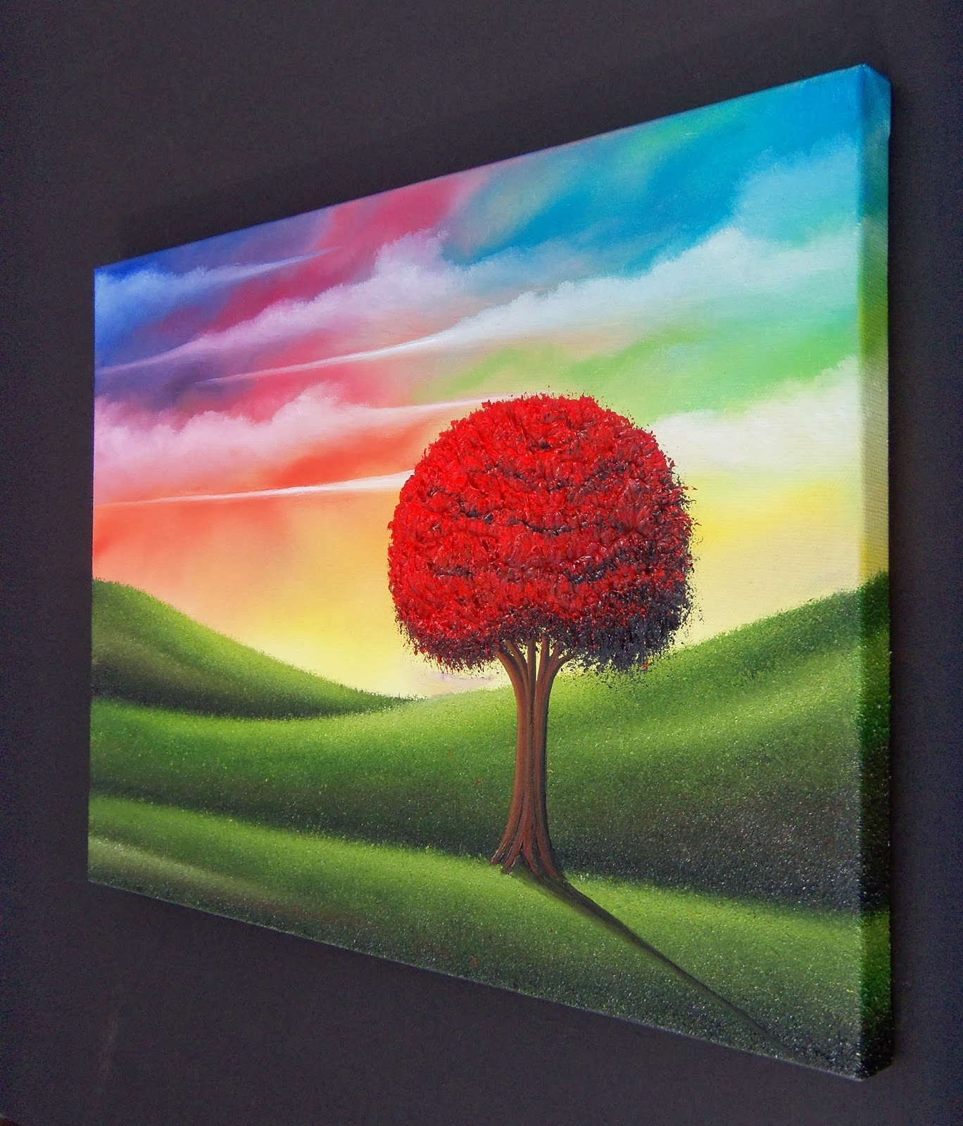 Colorful Art Landscape Painting Art For Sale Red Tree Painting