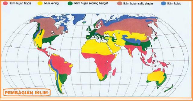 Pengertian Iklim dan Klasifikasi Berdasarkan Lintang Suhu