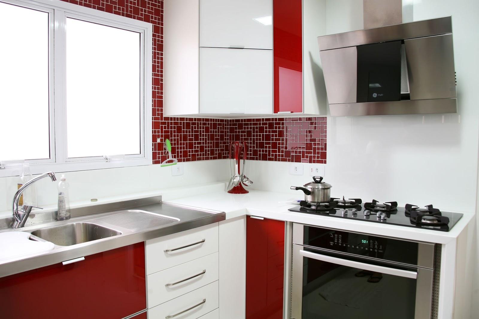 Wibamp Com Cozinha Planejada Branca E Vermelha Id Ias Do  ~ Cozinha Cinza Com Vermelho