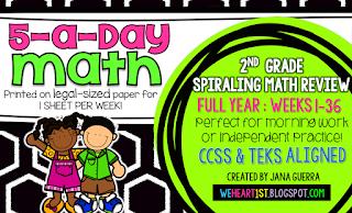 https://www.teacherspayteachers.com/Product/5-a-Day-Math-First-Grade-Spiraling-Review-FULL-YEAR-1623555