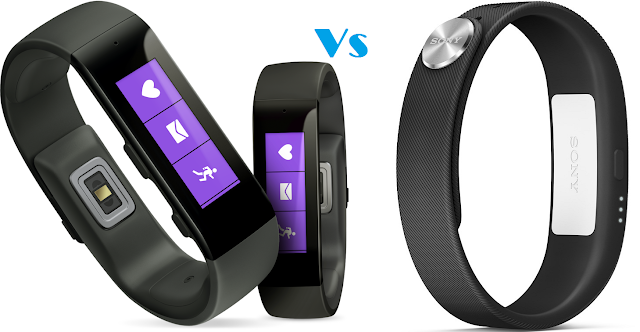 Microsoft Band vs Sony SmartBand