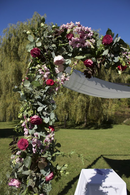 Wedding Chuppah - Inn at Buttermilk Falls - Hudson Valley NY - Splendid Stems Floral Designs