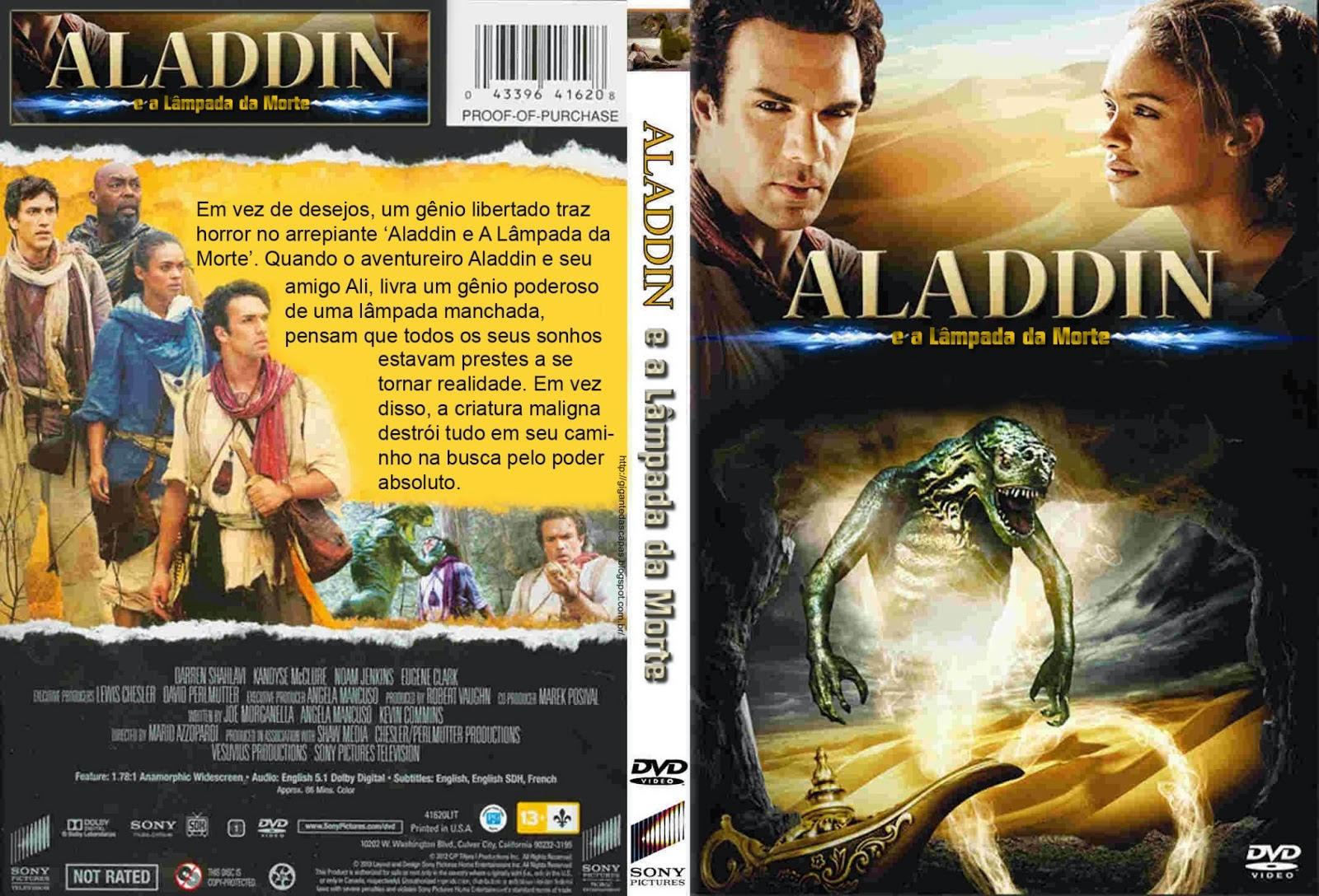 Aladdin e a Lampada da Morte DVD Capa
