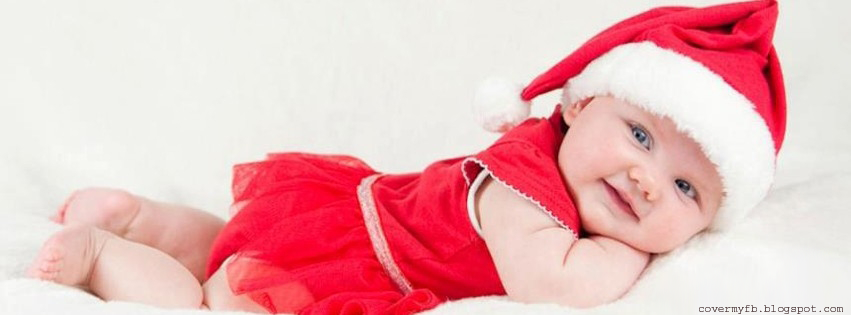 Cute Christmas Baby Girl Facebook Cover | Facebook Covers ...