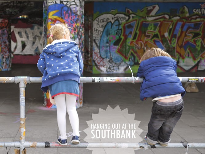 Hanging out at the Southbank skatepark by alexis at www.somethingimade.co.uk