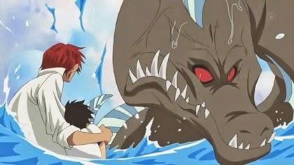 แชงคูสปกป้องลูฟี่จากจ้าวทะเล