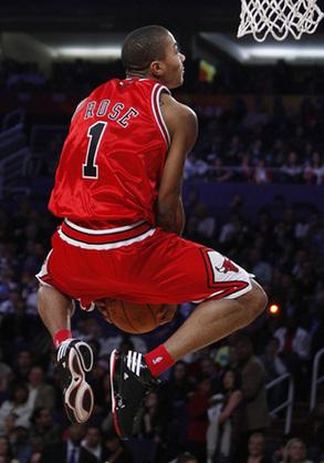 derrick rose dunking wallpaper. derrick rose wallpaper dunk.