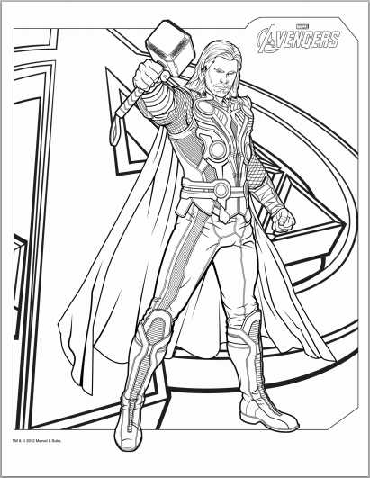 Avengers Coloring Pages Pdf : Color up