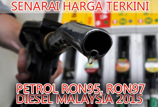 Senarai Harga Petrol Terkini Malaysia 2015