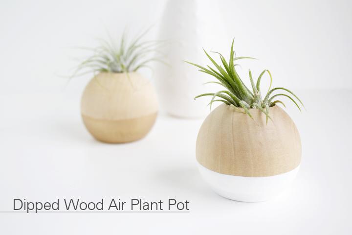 12 Minute DIY // Dipped Wood Air Plant Pot