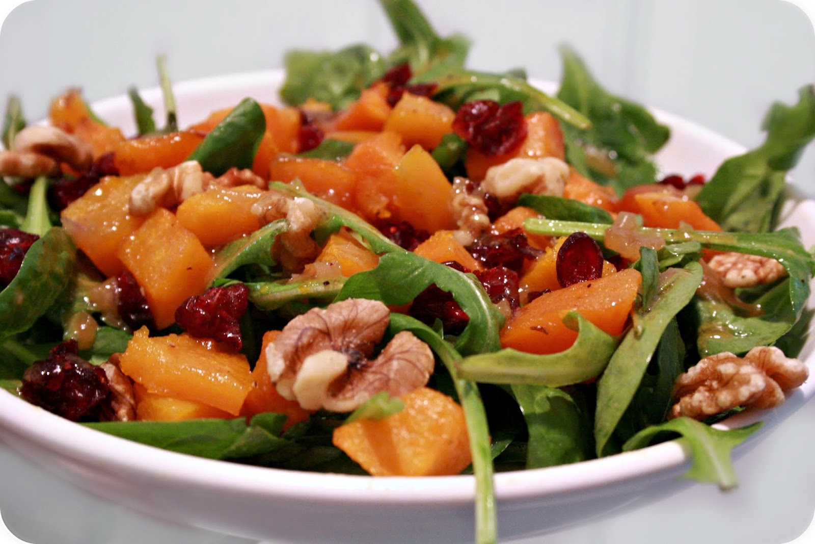 Grubarazzi: Roasted Butternut Squash Salad with Apple Cider Dressing