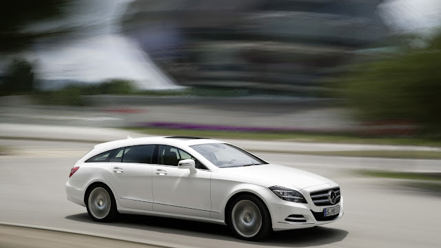 Mercedes Benz CLS White Speeding
