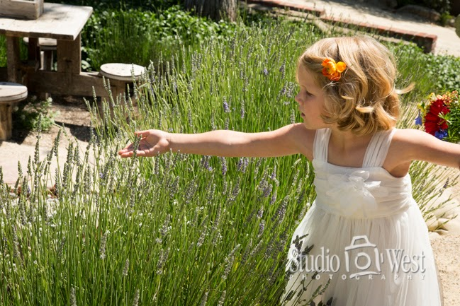 flower girl in garden
