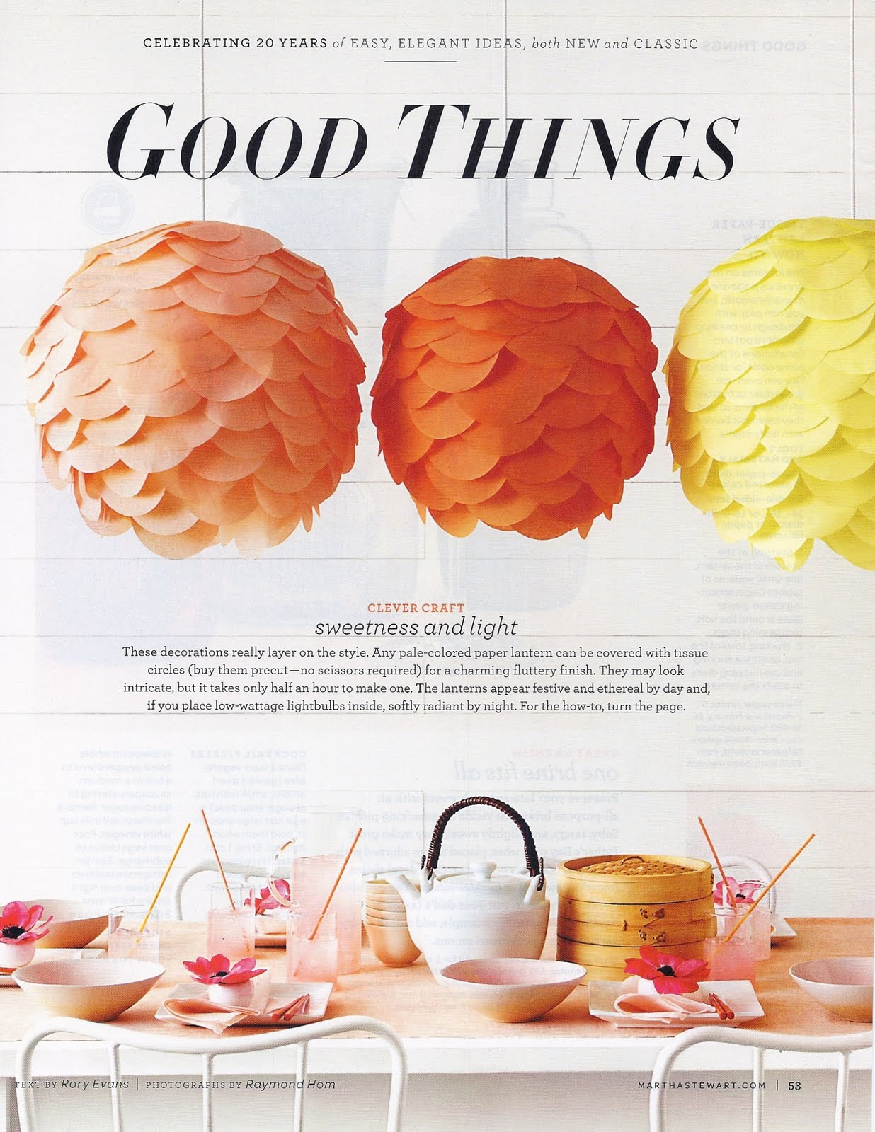Lovelygirls weddings events diy tissue paper lantern diy tissue paper lantern martha stewart mightylinksfo