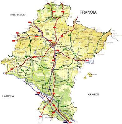 Navarra Mapa Ciudad de la Región