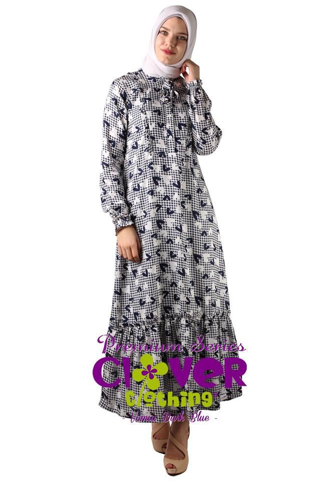 Baju Muslim Terbaru 2018 Online Gamis Vomia Clover Clothing