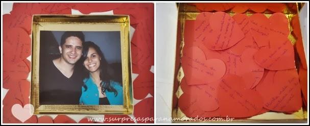 caixa de mensagens em forma de coração para namorado