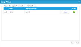 選擇要使用AzureWatch服務的儲存體