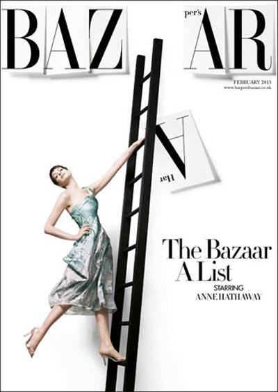 harper's bazaar uk february 2013 cover