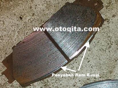 Permukaan brake pad tidak rata penyebab bunyi