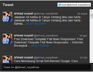 cara membuat widget update status twitter di blog