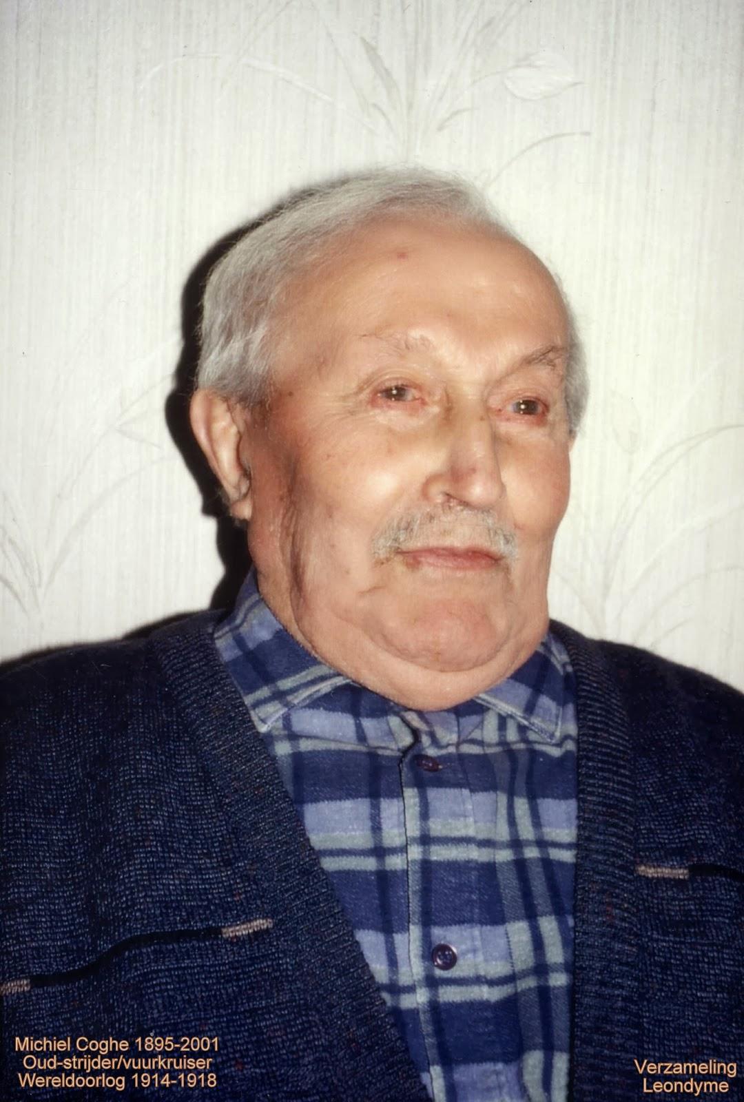 Michiel-Leo Coghe op honderdjarige leeftijd. Verzameling Leondyme