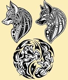 Fotos de lobos para tatuagens tribais