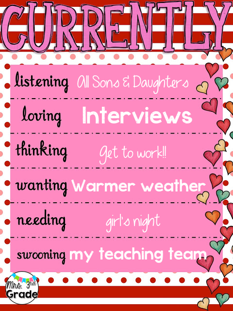 Currently - February 2016, all about interviews, getting to work, and my amazing team!