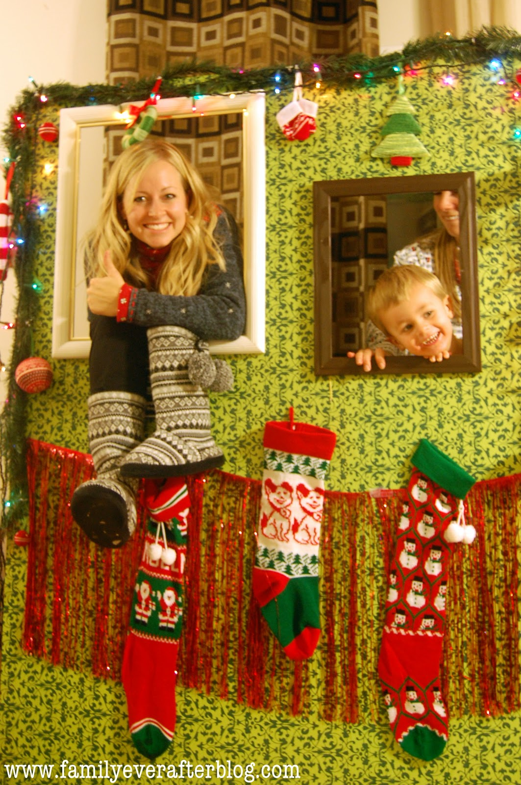 Tacky Christmas Sweater Party Ideas Part - 24: Ugly Christmas Sweater Party Ideas Photo Booth - Family Ever After Ugly  Christmas Sweater Party Recap