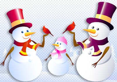 Bonecos de Neve photoshop - Psd Png