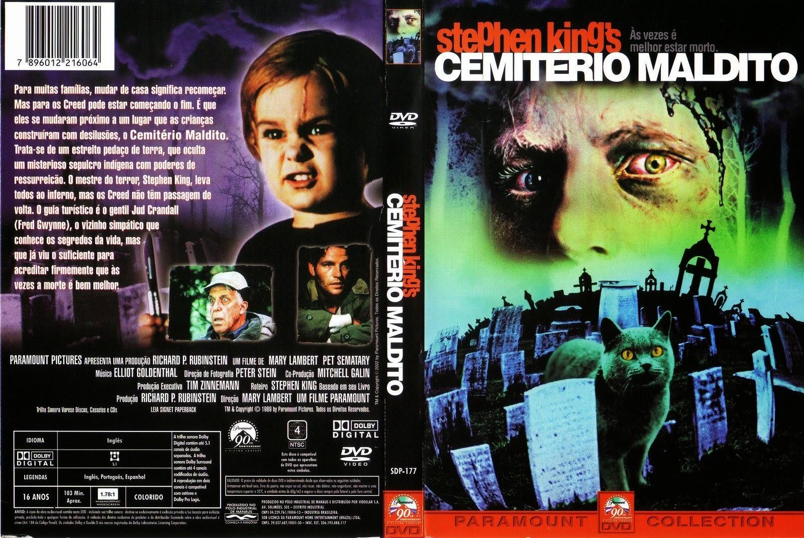 Filme Cemitério Maldito DVD Capa