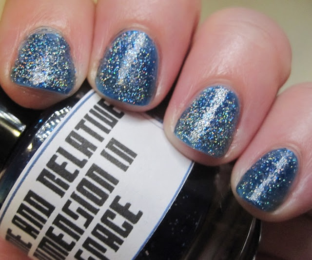 Orly Sparkling Garbage over LynBDesigns TARDIS