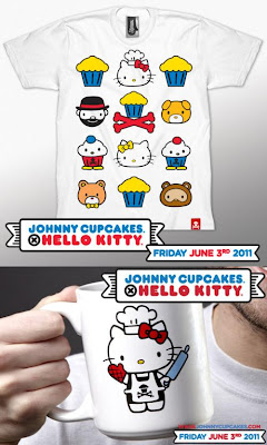 The Johnny Cupcakes x Hello Kitty T-Shirt Collection Wave 2 and JC x HK Coffee Mug