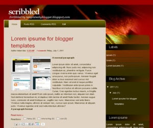 Scribbled Blogger Template