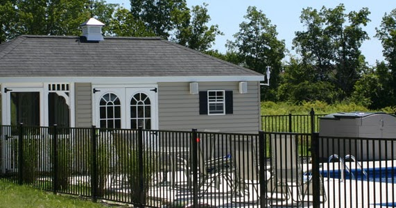 Sheds unlimited llc outdoor and backyard pool house for Home designs unlimited llc