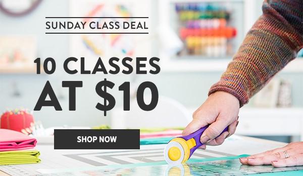 Craftsy Sale 10 @ $10