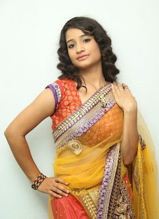 Actress Santhoshi Sharma Latest  Pictures in Half Saree at Toll Free No 143 Audio Launch  39